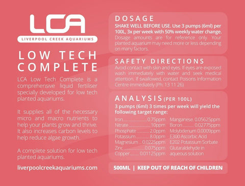 LCA Low Tech Complete 500ml - Nature Aquariums