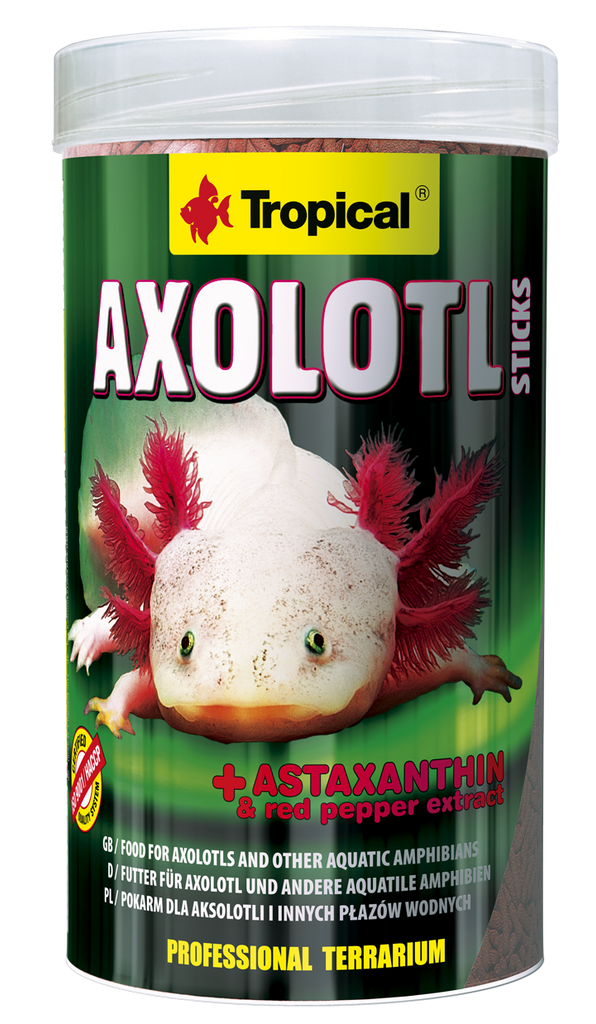 Axolotl Sticks (5 mm sticks)tin 250ML/135G - Nature Aquariums