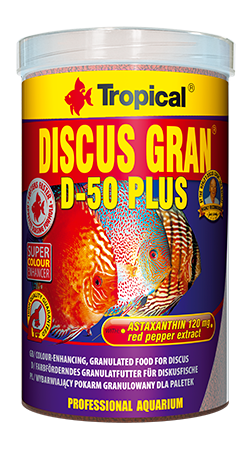 Discus Gran D-50 PLUS (1.25 mm granulat)tin 1000ML/380G - Nature Aquariums