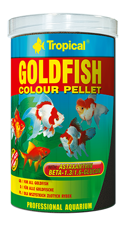 Goldfish Colour Pellet(1.5 mmm pellet)tin 1000ML/300G - Nature Aquariums