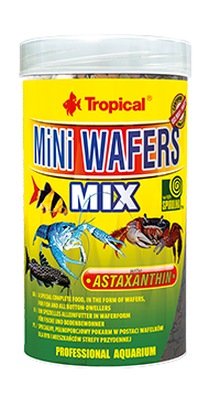 Mini Wafers Mix- food for bottom feeding fish (4mm tablets)100ML/55G - Nature Aquariums
