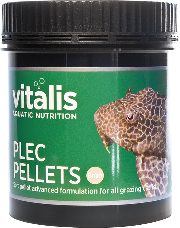Vitalis Plec Pellets 8mm 120g - Nature Aquariums