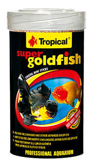 Super Goldfish Mini Sticks ( 3mm sticks )tin 250ML/150G - Nature Aquariums