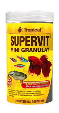 Supervit  Mini Granulat (0.5 mm granulat)tin 250ML/162.5G - Nature Aquariums