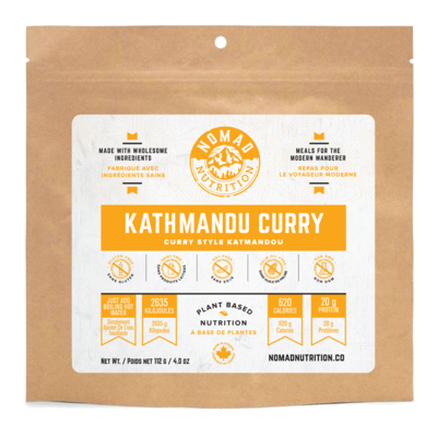 Nomad Nutrition - Plant Based Dehydrated Meals - Kathamandu Curry