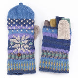 Colorful Knit Beanie & Finger Mittens-Fleece Lined