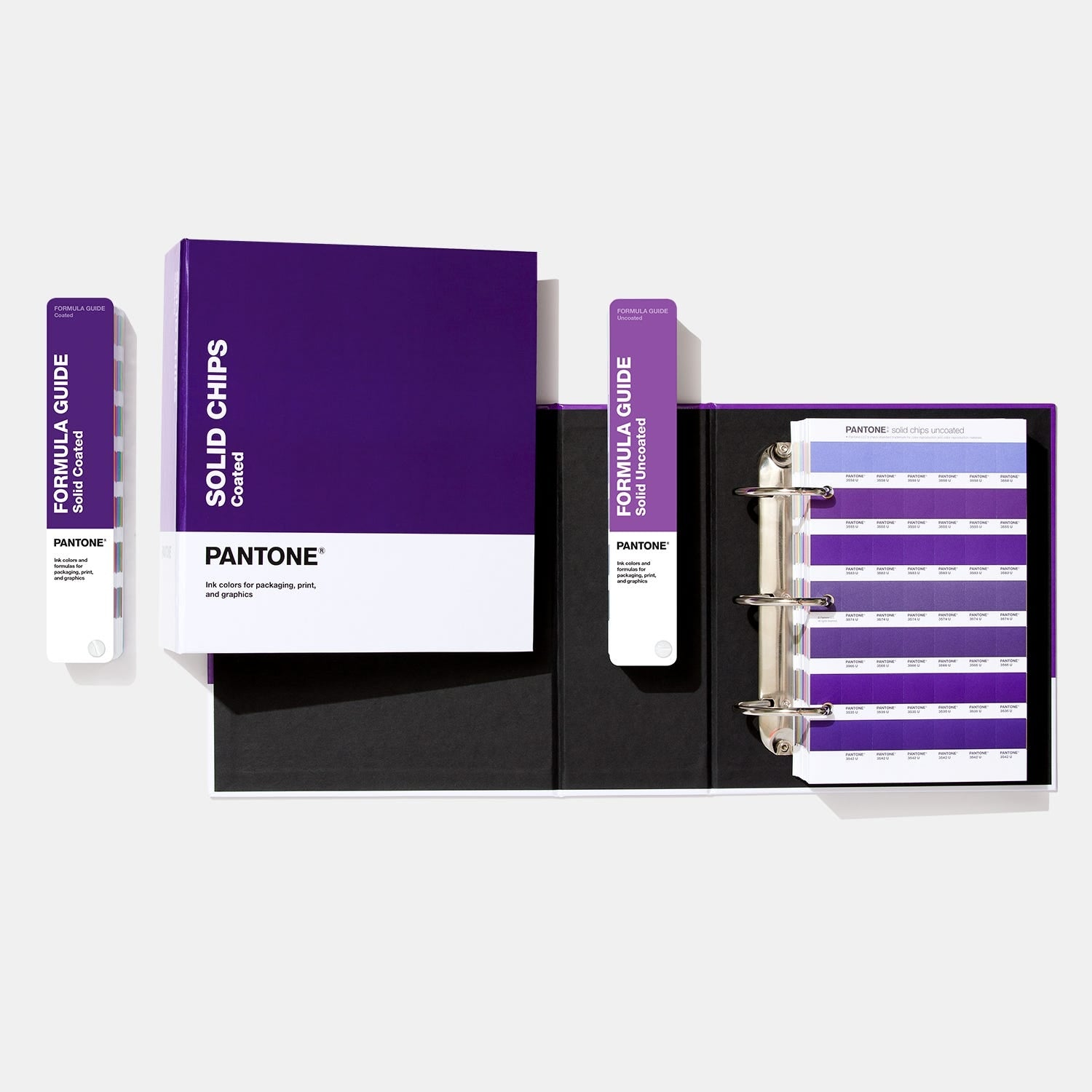 Pantone Solid Chips Binders and Formula Guides Bundle
