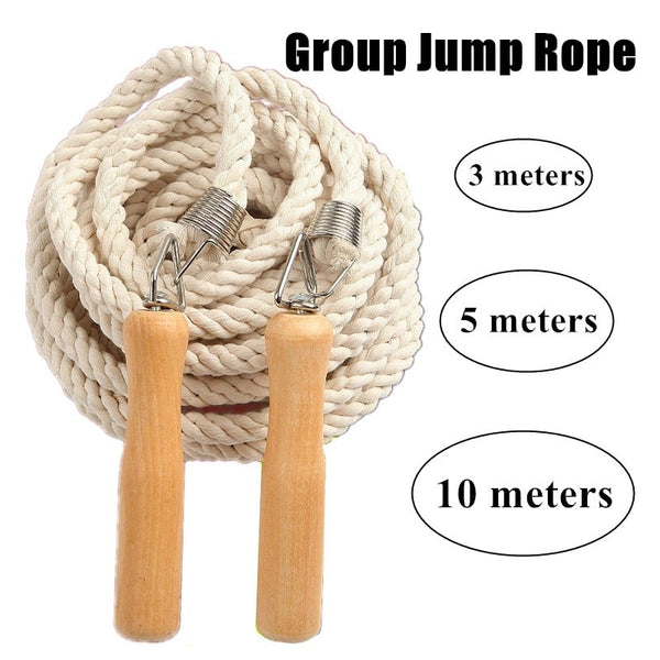Skipping Rope 3-20m Weavon Rope Wood Grip Handle for Crossfit Jumping Rope Training Fitness Group Weightloss Workout Equipments
