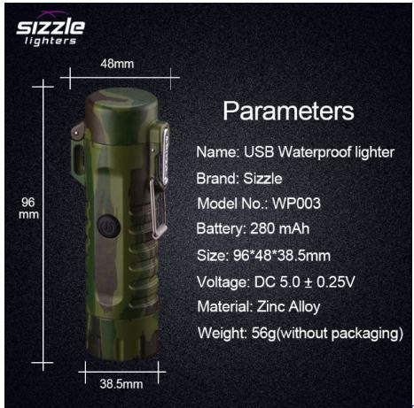 The Survival Sizzler Lighter