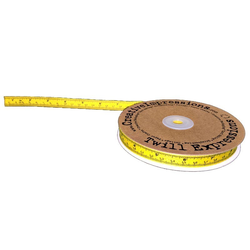 Tape Measure Twill Yellow