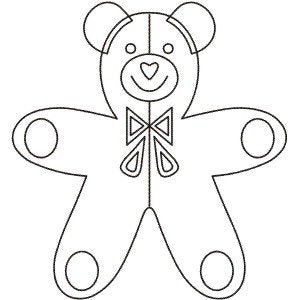 Teddy Bear 8'' Stencil