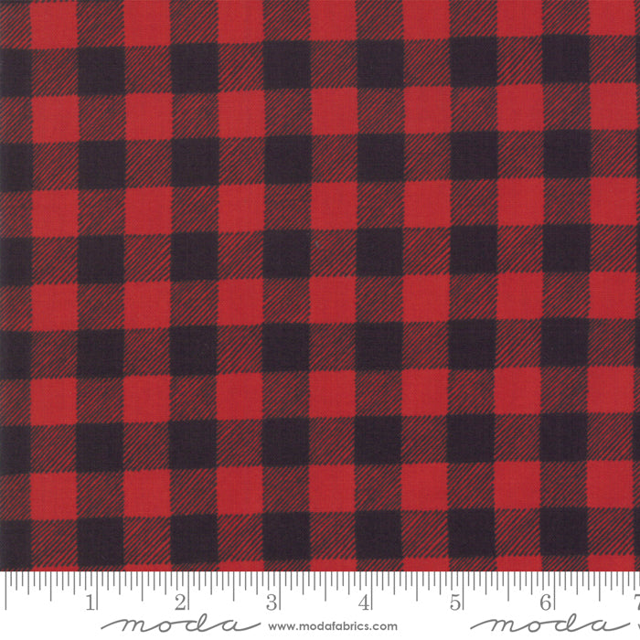 Moda Holiday Lodge Red Charcoal Plaid