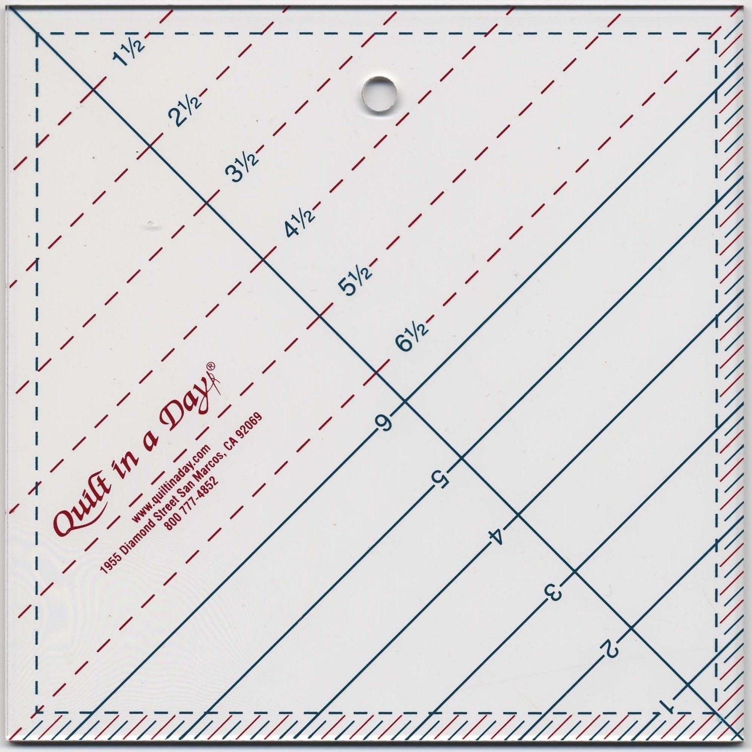 Quilt in a Day Triangle Square Up Ruler   6-1/2in