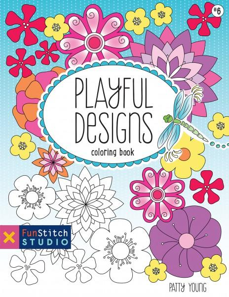 Playful Designs Coloring Book - Softcover