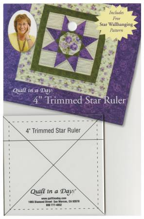 4 inch Trimmed Star Ruler