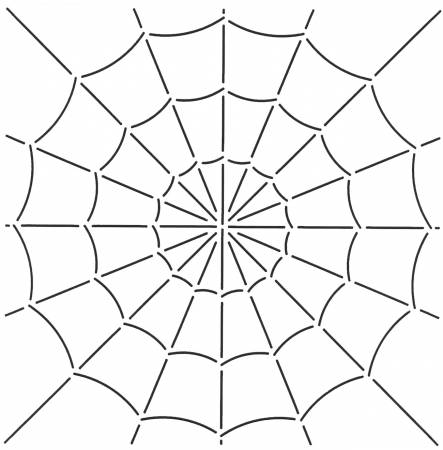 Quilt Stencil Spider Web 10-1/2in