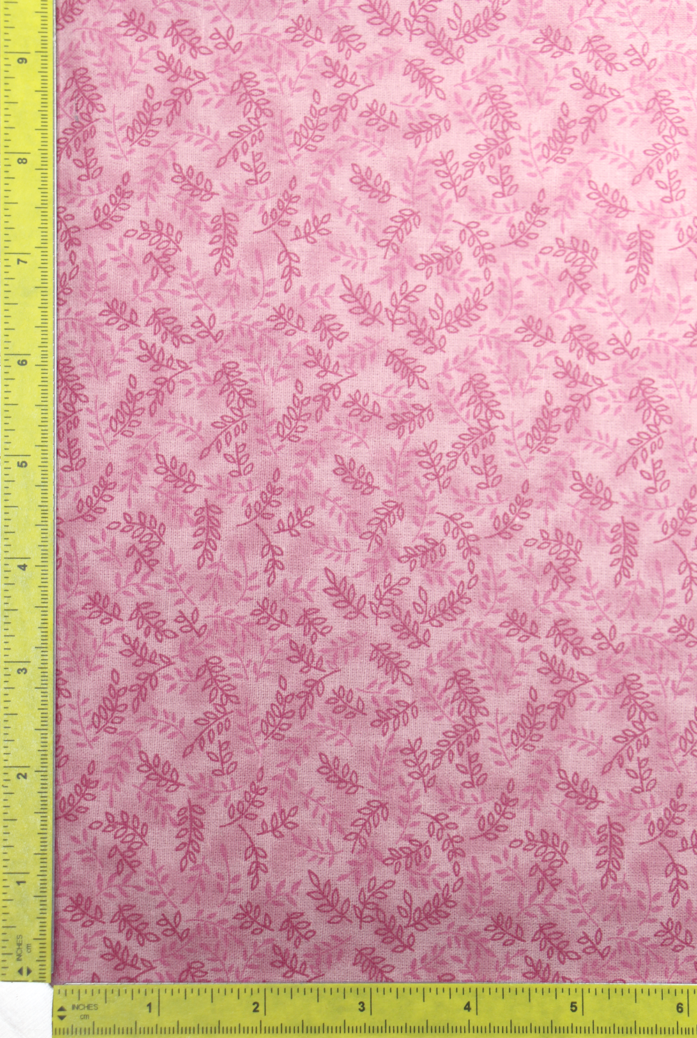 Pink Tonal Ferns fabric by the yard