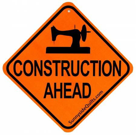 Construction Ahead 5-1/2in x 5-1/2in Sign