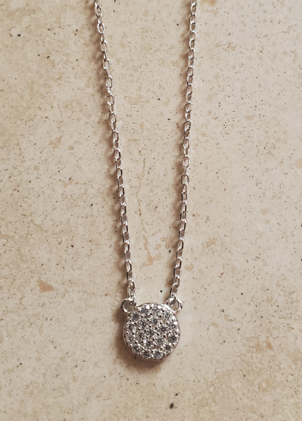 Small Round CZ Necklace