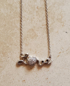 Love Necklace with Heart