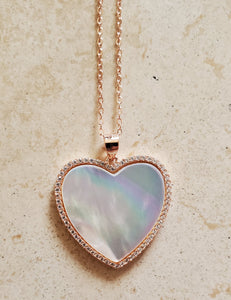 Rose Gold and Mother of Pearl Heart