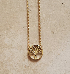 Small Gold Vermeil Tree of Life