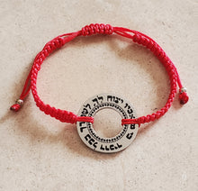 Load image into Gallery viewer, Large Psalms 91:11 Adjustable Bracelet Silver or Gold