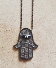 Load image into Gallery viewer, Hamsa Necklace with Eye
