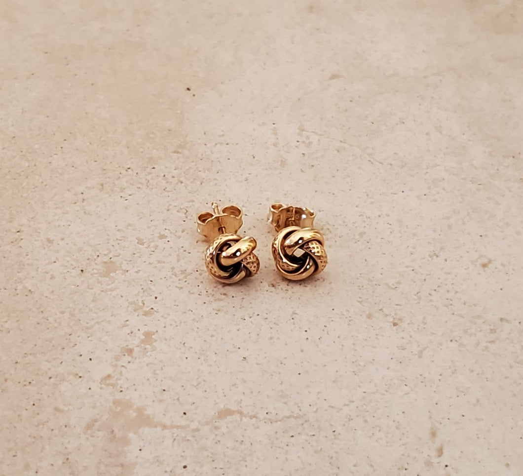 Lover's Knot Stud Earrings