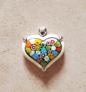 Large Murano Glass Heart Pendant