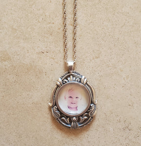 Sterling Silver Picture Frame Necklace