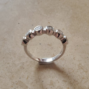 Bubble Clear CZ Ring