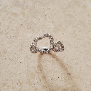 Two Open Hearts Ring