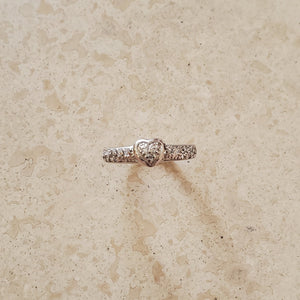 Small CZ Heart Ring