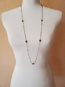 Multi Colored Tourmaline Long Necklace