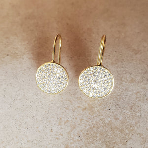 Hanging CZ Circle Earrings