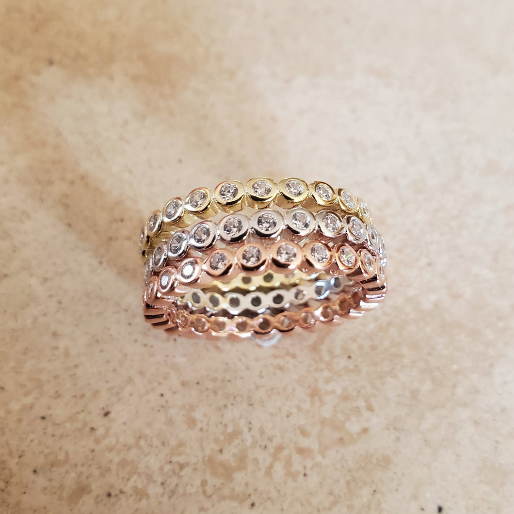 Tri-Color Ring Set