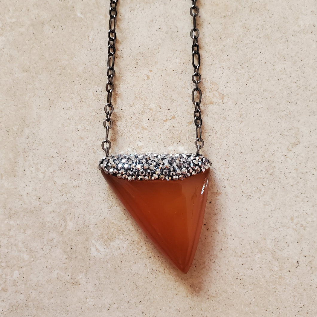 Carnelian and Marcasite Necklace