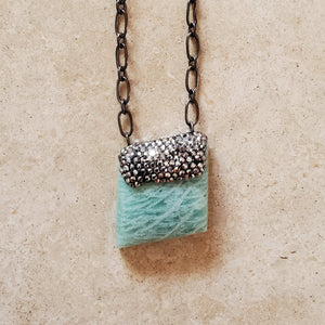 Amazonite and Marcasite Necklace