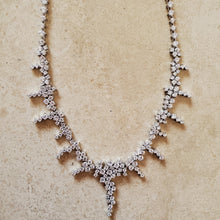 Load image into Gallery viewer, Silver and CZ Necklace