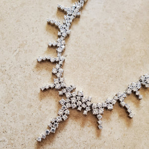 Silver and CZ Necklace