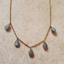 Load image into Gallery viewer, Labradorite Teardrop Necklace