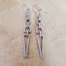 Load image into Gallery viewer, CZ Link Drop Earrings