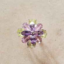 Load image into Gallery viewer, Pastel CZ Flower Ring