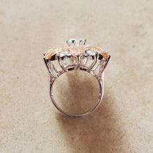 Load image into Gallery viewer, Champagne CZ Flower Ring
