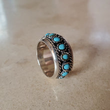 Load image into Gallery viewer, Turquoise Band Ring
