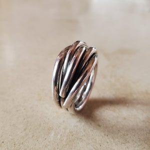 Interwoven Oxidized Silver Ring