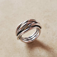 Load image into Gallery viewer, Interwoven Oxidized Silver Ring