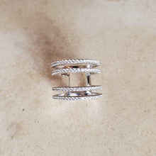 Load image into Gallery viewer, Double Spaced CZ Ring