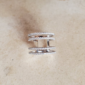 Double Spaced CZ Ring